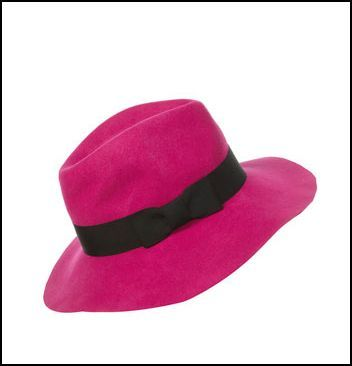 Hide a bad hair or day or simply add a new twist to your look with this bright pink floppy fedora from Top Shop.