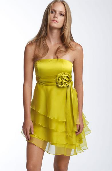 Haute Hippie Tiered Silk Dress