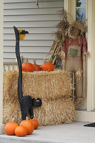 Scarecrow on the porch