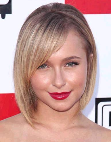 Chin-length bob for round and square faces - Hairstyles That Flatter