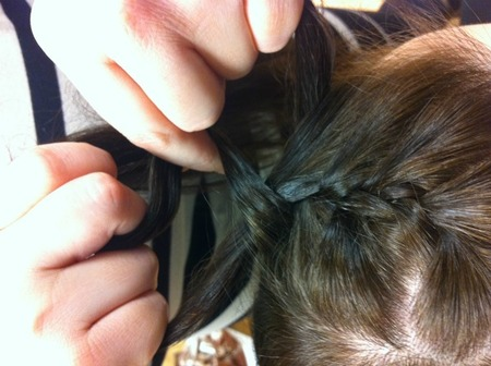 Step 2: Begin braiding