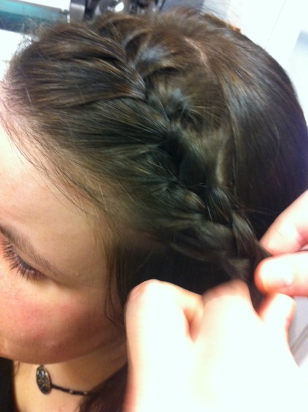 Step 3: Work toward the back of the head