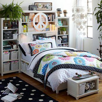 Bedroom Storage Ideas on Headboard Storage   Girls  Bedroom Ideas