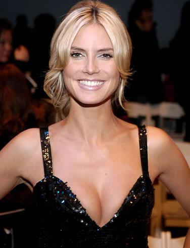 Heidi Klum sparkles.