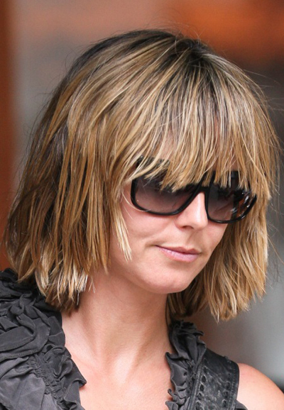 Heidi Klum&#039;s layered bob hairstyle
