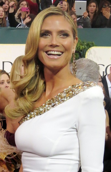 Heidi Klum in white