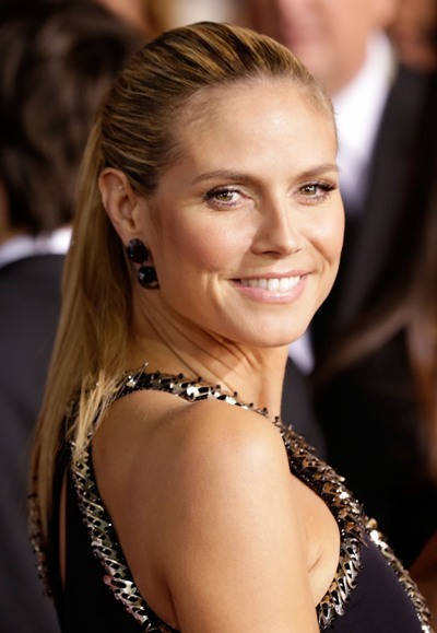 Heidi Klum rocks the ponytail