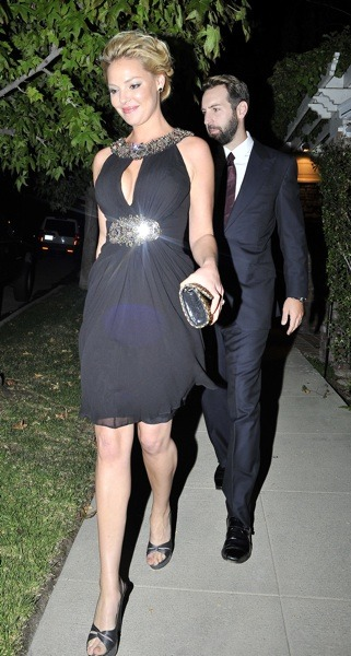 Katherine Heigl in black sparkling dress