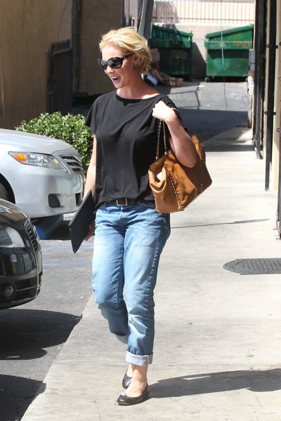 Katherine Heigl in flats