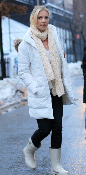 Katherine Heigl in puffy coat
