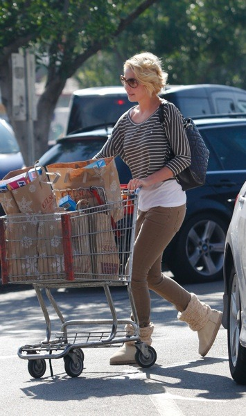 Katherine Heigl at the grocery store