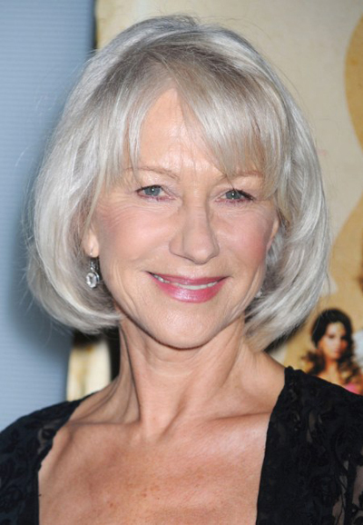 Helen Mirren's chic, bob hairstyle