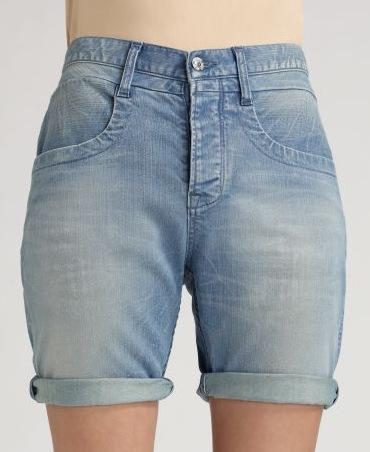 Helmut Lang Faded Boyfriend Shorts