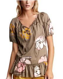 Drop-waist floral blouse
