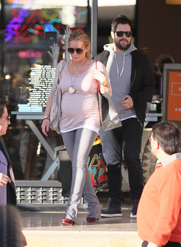 Hilary Duff and her husband leaving Barneys NYC in Beverly Hills