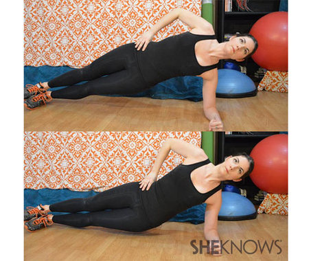 Side plank with hip raise