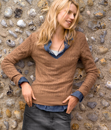 Earthy V-neck