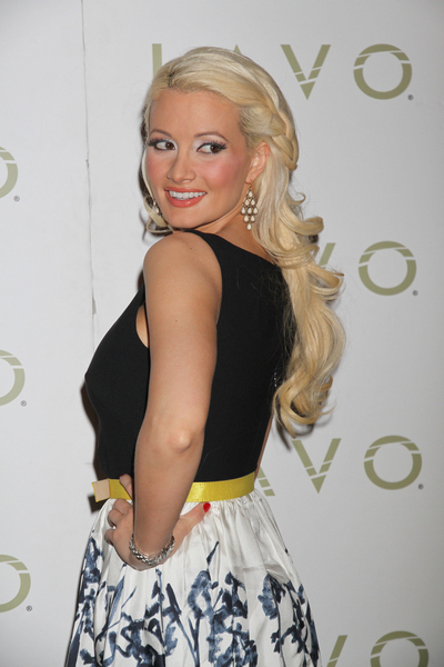 Holly Madison's partial updo hairstyle