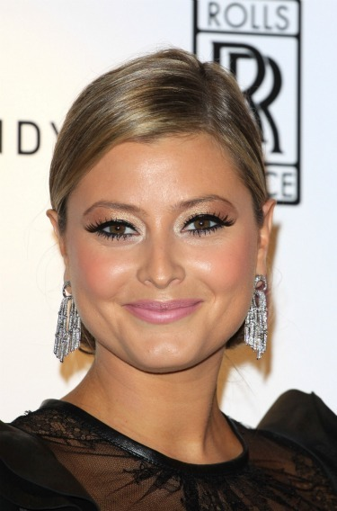 Holly Valance's sleek bun