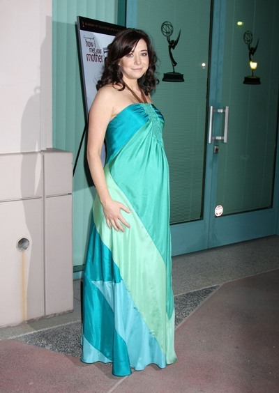 A pregnant Alyson Hannigan attending 'An evening with 'How I Met Your Mother'
