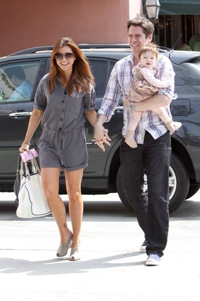 Alyson Hannigan arriving at a restaurant in Santa Monica to celebrate her birthday