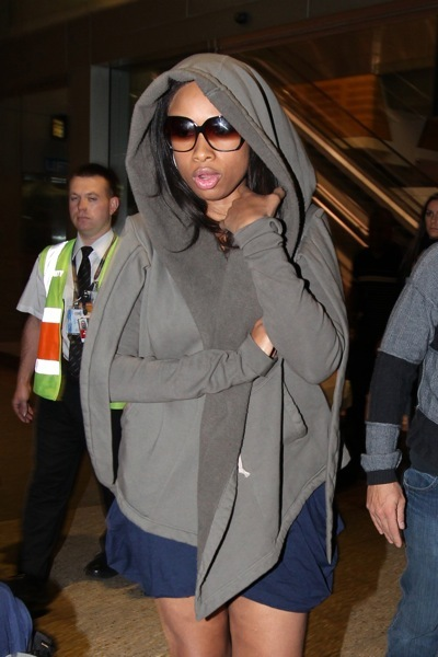 Jennifer Hudson in grey