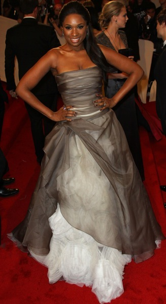 Jennifer Hudson in an evening gown