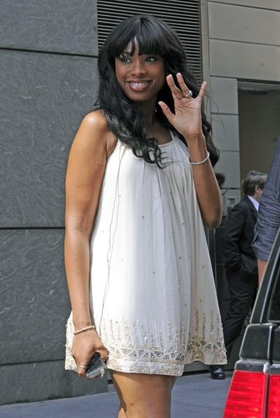 Jennifer Hudson in a babydoll dress