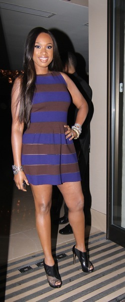 Jennifer Hudson in a mini dress