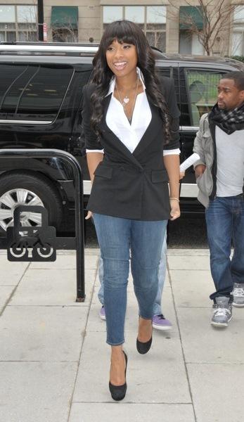 Jennifer Hudson's casual style