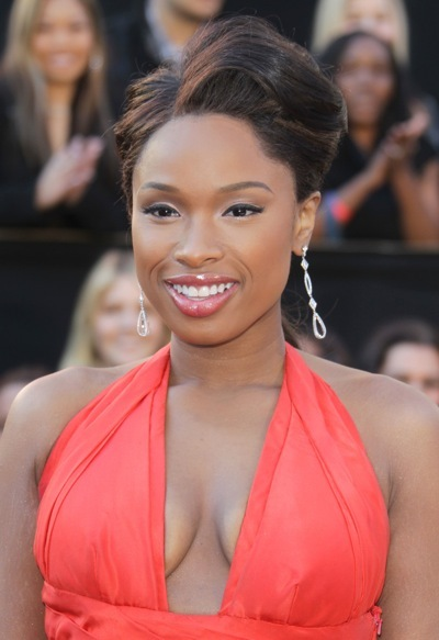 Jennifer Hudson's asymmetrical hairstyle