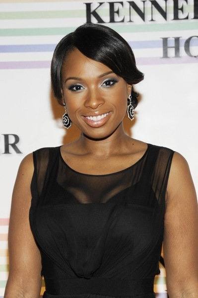 Jennifer Hudson with diamond earrings