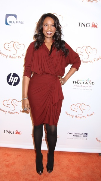 Jennifer Hudson's wrap dress