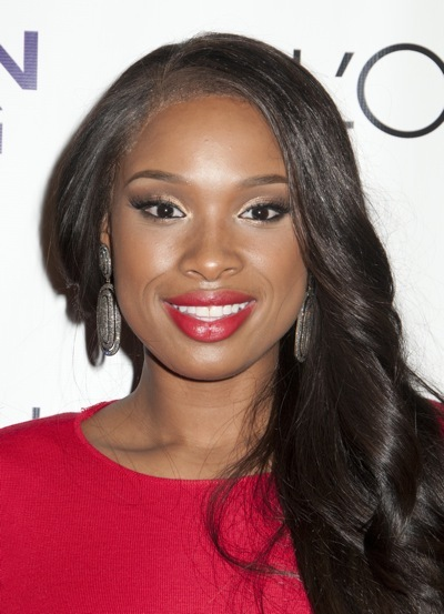 Jennifer Hudson in big curls