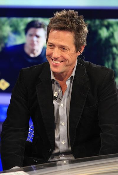 Hugh Grant appears on the Spanish TV show 'El Hormiguero' in Madrid.