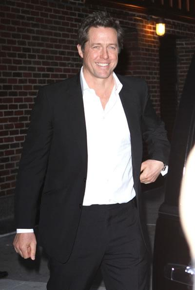 Hugh Grant visits The Late Show with David Letterman.