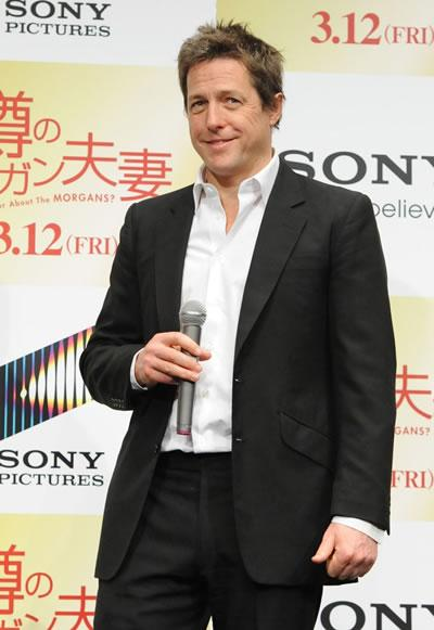 Hugh Grant at a meet and greet for his film 'Did You Hear About the Morgans?' in Tokyo.