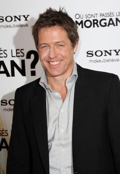 Hugh Grant at a Paris photocall for his film 'Did You Hear About the Morgans?'