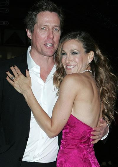 Hugh Grant and Sarah Jessica Parker at the London premiere of their film ...
