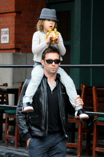Hugh Jackman having fun with his little girl