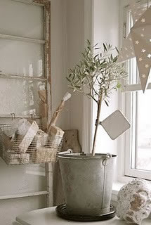 Simple white holiday card tree
