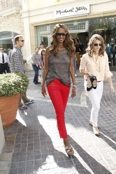 Iman looking cute and casual for an appearance at The Grove in Los Angeles