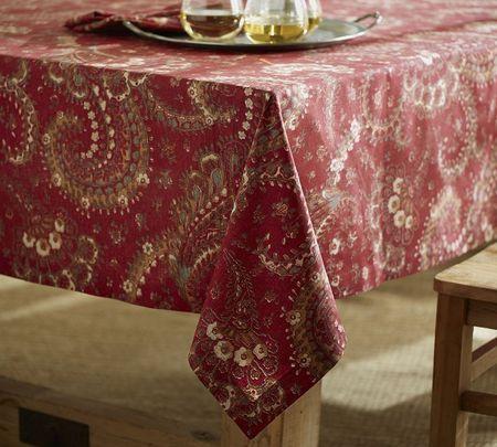 Chalet paisley tablecloth