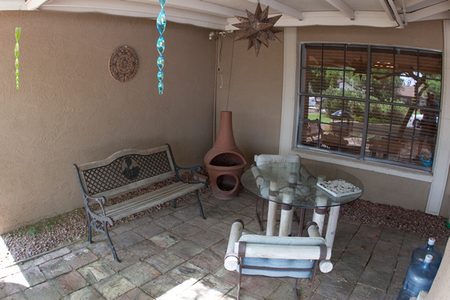 The Norton's outdoor seating area
