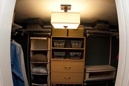 Interior shot of the closet
