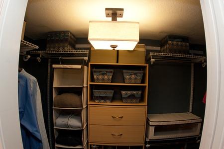 Interior shot of the closet