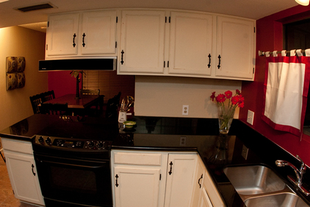 Another shot of the Norton's new kitchen