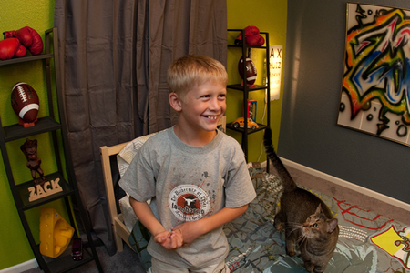 Zack checks out his new room