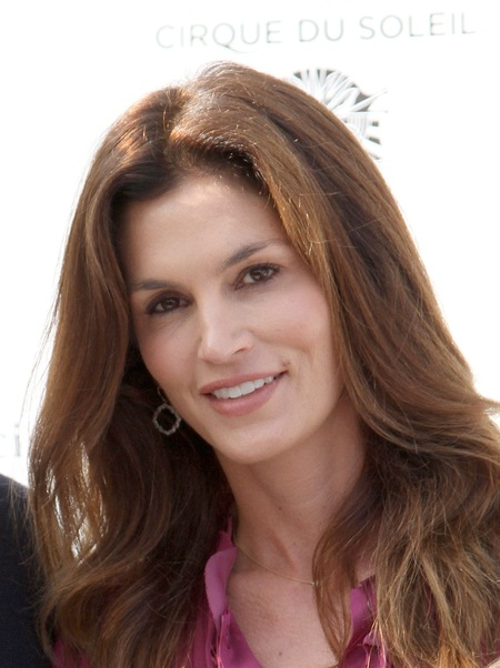 Cindy Crawford casual hairstyle