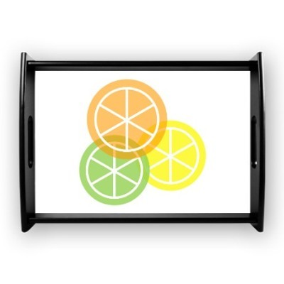 Summer citrus orange lime lemon coffee tray